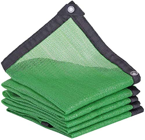 LBBGM Roof shading net, Green Shading Net 6-Pin 80% Shading Rate Reinforcing Shading Net Thickening Awnings Uv Protection Anti-Aging Shading Net With Eyelets For Plants(4x4m/157.5x157.5in)