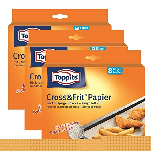 Toppits® Cross & Frit Papier Back-Spezialpapier Snackpapier 8 Bögen (3er Pack)