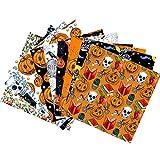 Erfula Halloween Baumwollstoff Tuch Set Patchwork Nähen