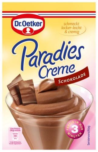 Dr. Oetker Paradiescreme Schokolade, 1 er Pack (1 x 74g Packung)
