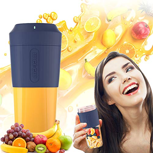 Entsafter,Mixer,Smoothie Maker,Mini Blender Tragbare, Persönlicher Mixer,Smoothie Maker USB-Wiederaufladbar, 350MLTragbar Entsafter Blender für Sport, Haushalt, Reise, Outdoor, Saft, Milkshake