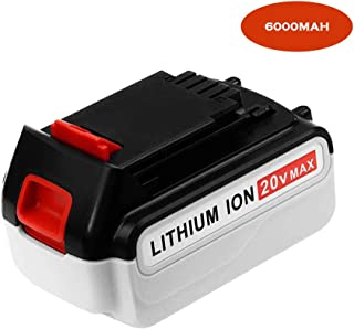 6000Ah High Capacity Replace Battery for Black and Decker 20v lithium battery Max LBXR20 LB20 LBX20 LBXR2020 LBX4020 LB2X4020-OPE LBXR20-OPE 20 Volts Batteries