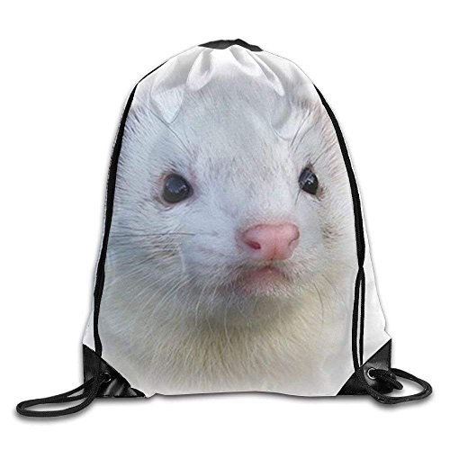 Yuanmeiju Galaxy Cat Laser Basic Mochila con cordón Workout Sackpack for Men & Women School Travel Bag Lovly Ferret Face