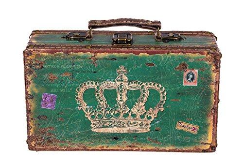 Truhe Kiste SJ 1287 Koffer, Kofferset, Holztruhe mit edlem Leder bezogen