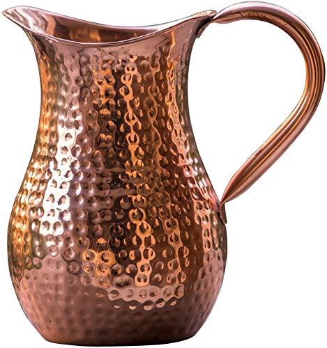 Reines Kupfer Traditionellen Indische handgemachte gehämmert Krug, Ayurvedische Nutzen Für Die Gesundheit, Kapazität 1,5 liter Wasserspeicher, von Gopala Ayurveda