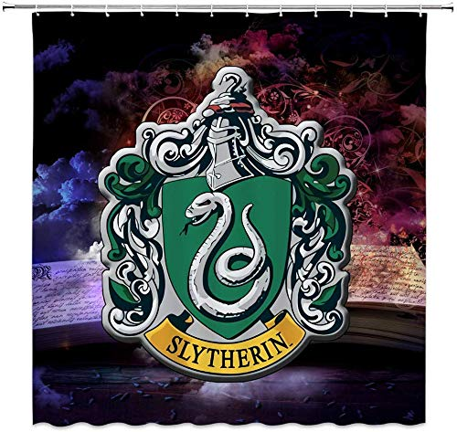 WS Harry Potter - Cortinas de Ducha con Logo de Slytherin Magic...