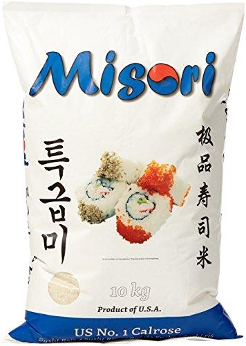 MISORI Calrose Reis / Sushi Reis; Premium Qualität, 1er Pack (1 x 10 kg Packung)