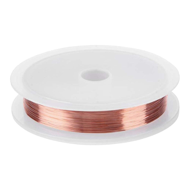 音縁石ヘッドレスLURROSE ジュエリー作り用品や工芸品のためのジュエリービーズワイヤー銅線0.2mm(ローズゴールド)