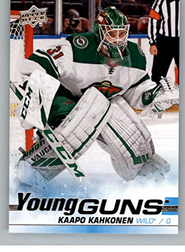 2019-20 Upper Deck Series 2 Hockey #470 Kaapo Kahkonen RC Rookie Minnesota Wild Young Guns Official UD Trading Card