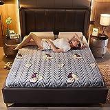 MKMKT Colchón, colchón de látex natural de tamaño completo, tatami grueso, plegable, diseño ergonómico, patrón de aguacate, sin almohada, grosor de 3.5 pulgadas, 39 x 79 pulgadas