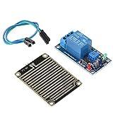 Modulo controller goccia di pioggia con relè, Modulo sensore di pioggia DC 12V, Sensore meteorologico relè di umidità, Modulo di irrigazione automatico