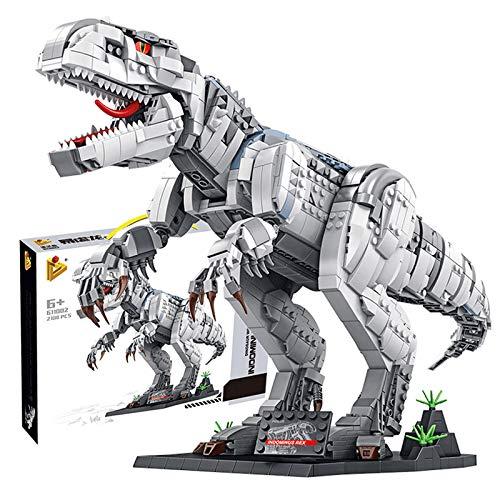 ReallyPow Dinosaurier Baumodell, Dinosaurier Spielzeug Bauset Kompatibel mit Lego Jurassic World - 2102 Teilen
