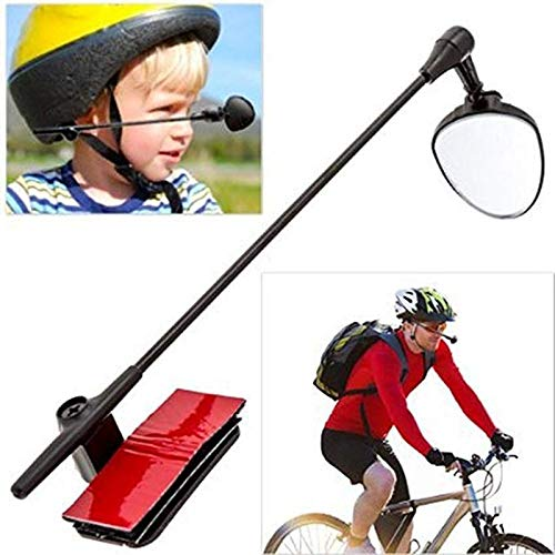 YKWYQ Spiegel Univesal Fahrradhelm Spiegel Adjustable MTB Straßen-Fahrrad-Fahrrad Rückspiegel Motorrad-Sturzhelm mit Crystal Clear View (Color : Helmet Mirror)