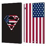 Head Case Designs Offizielle Superman DC Comics U.S. Fahne 2 Logos Leder Brieftaschen Huelle kompatibel mit Huawei MediaPad T5