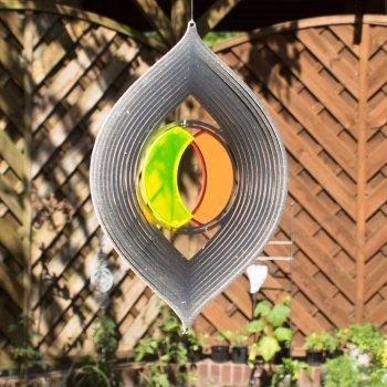 Acier inoxydable Carillon – Sun Dancer Mix Tiffany lentille – Mélange unique, lichtreflektierend – Dimensions : 19 x 30 cm – avec crochet avec roulement à billes vertébrale