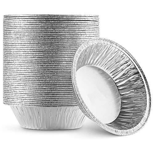 "MIPAHI 250 Packs Disposable Aluminum Foil Pie/Tart Pans, Cake Pan for Baking Personal Mini Pies, Egg Tart Mold, Homemade Quiche Oven Safe Foil Tin, Easily Store, Freeze&Reheat, 2.95""x1.5""x0.78"""