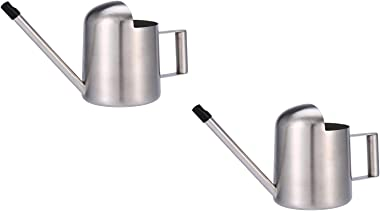 Fasmov 2 Pack 11 oz / 300 ml Stainless Steel Watering Can for Indoor Plants for Kids and Office