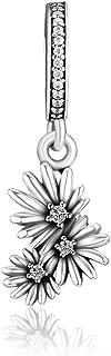 CKK يناسب باندورا سوار وقت الربيع سحر 925 الفضة ديزي شعرية الزهور الخرز الاسترليني الفضة والمجوهرات للنساء هدية الأم عيد الحب