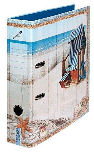 "Ordner Motiv ""Meeresbrise"" | DIN A4 | ca. 8 cm breit | Motivordner mit maritimem Motiv, blau - Schreibgefühl®"