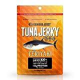 Kaimana Wild-Caught Ahi Tuna Jerky - Teriyaki | Rich in Omega-3s & High in Protein | All-Natural & Organic Fish Jerky (2 oz)