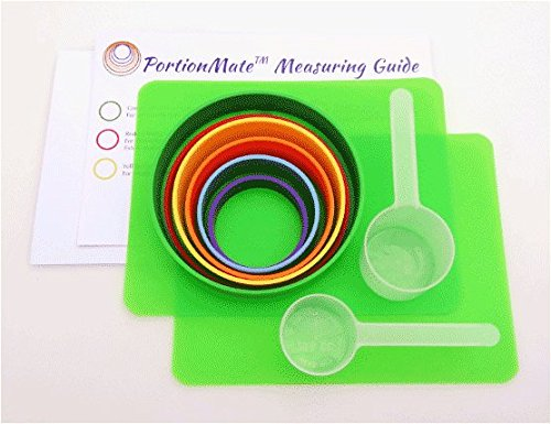 PortionMate Diabetes Care Eating Guide and Food Rings Carb Counter