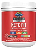 Garden of Life Dr. Formulated Keto Fit Weight Loss Shake - Chocolate Powder, 10 Servings, Truly Grass Fed Butter & Whey Protein, Studied Ingredients plus Probiotics, Non-GMO, Gluten Free, Keto, Paleo