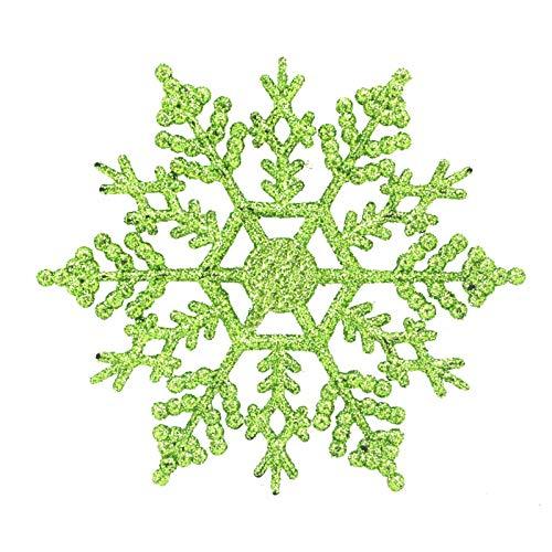 WSJKHY, glitter, sneeuwvlok, kerstversiering, kerstboom, kleerhangers, slinger, maken, kerstversiering muntgroen