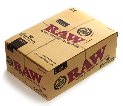 RAW Connoisseur-King Size Slim-Papers with Prerolled Tips-24 Heftchen a 32 Blatt/ 24 Tips, gelb