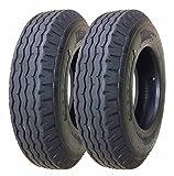 Zeemax Heavy Duty Highway Trailer Tires 8-14.5 14PR Load Range G - Set 2