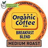 The Organic Coffee Co. OneCup, Breakfast Blend, Single Serve Coffee K-Cup Pods (80 Count), Keurig...