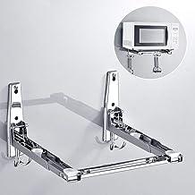 Acero Horno de microondas de montaje en pared de acero del soporte del sostenedor Estante con gancho extraíble