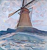 Art-Galerie Digitaldruck/Poster Piet Mondrian - Windmühle.