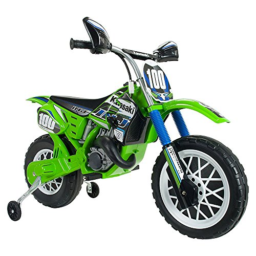 giordano shop Moto Elettrica per Bambini 6V Kawasaki Verde