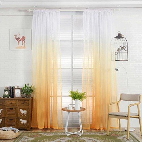 Vorhang ❤️Timogee Vorhang Tüll Fenster Behandlung Voile Drape Valance Transparent Gardinen Ösenschal Dekoschal für Wohnzimmer Schlafzimmer 1er-Pack (L x W): 200cm x 100cm (A)