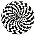 DJ Record Turntable Slipmats BLACK AND WHITE ILLUSION SLIPMAT x 1 (Single)