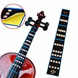Forfar 1 Stück 4/4 Violin Griffbrett Aufkleber Violine Geige Finger Position Marker Tape Violin Sticker Griffbrett Bande Geige Griffbrett Finger Marker