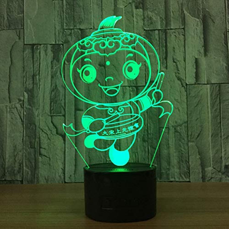 Zyue 3D Nachtlicht Led Touch Switch Bunte Nachtlichter USB Babys Schlafzimmer Tischlampe Für Kinder Geschenk,Blautooth-Lautsprecher