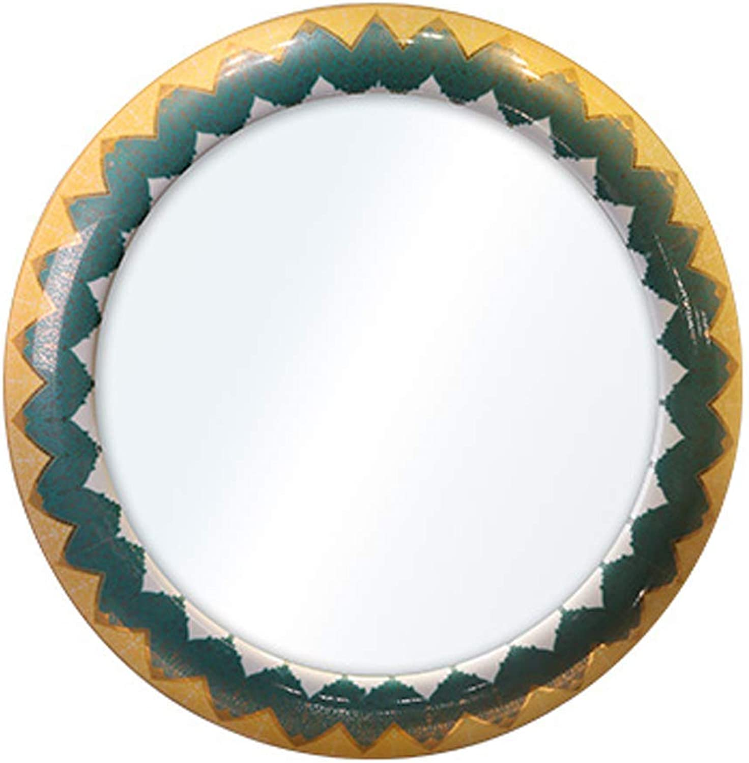 Round Mirror - Wall Mirror for Bathroom Mediterranean Style Suitable for Living Room Bedroom Restaurant Hotel Ceramic (Diameter 19.5 )