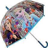 Disney Frozen Transparente Campana 19 2 Paraguas Acampada y Senderismo Infantil, Juventud Unisex, Multicolor (Multicolor), Talla Única