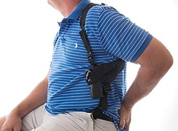 Big Horn Gun Holster Shoulder Compatible fits Ruger Security-9 9mm S&W SW9VE 5900 Glock 17 19 20 21 22 23 26 28 30 31 32 33 36 38 39 Taurus 24/7 PT840 XD9 Walter Creed 4  ATI GSFLY .22LR Rim fire 5