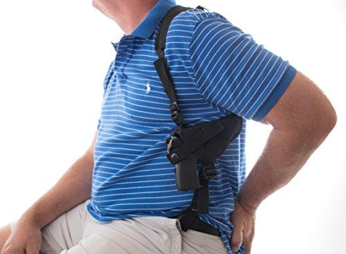 "Big Horn Gun Holster Shoulder Compatible fits Ruger Security-9 9mm S&W SW9VE 5900 Glock 17 19 20 21 22 23 26 28 30 31 32 33 36 38 39 Taurus 24/7 PT840 XD9 Walter Creed 4"" ATI GSFLY .22LR Rim fire 5"