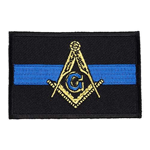 Thin Blue Line Masonic Patch, Law Enforcement Patches