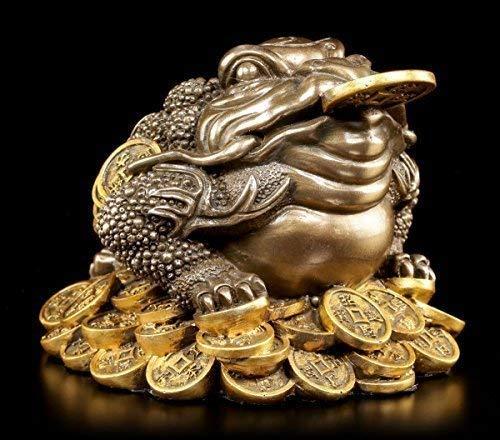 Geldfrosch Feng Shui Figur - Geld Frosch - Money Toad - Glücksbringer Geldsegen