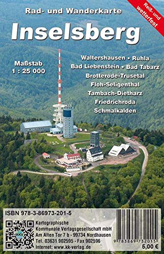 Inselsberg: Rad- und Wanderkarte (wetterfest)