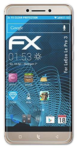 atFolix Schutzfolie kompatibel mit LeEco Le Pro 3 Folie, ultraklare FX Bildschirmschutzfolie (3X)