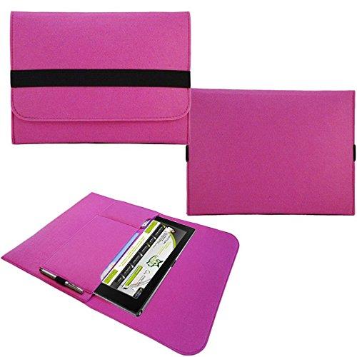 NAUC Tasche Hülle für Blaupunkt Endeavour 101M 101L Schutzhülle Sleeve Filz Tablet, Farben:Pink
