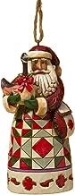 """Jim Shore Heartwood Creek Canadian Santa Stone Resin Hanging Ornament, 4.75"""""""