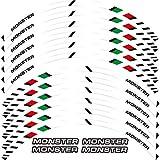 Etiqueta engomada de la Rueda 12 x Edición de Borde de Grueso Etiqueta de rontación Exterior de la Raya de Las calcomanías de la Rueda Fit All Monster 695 696 796 1100 1100s 797 821 795