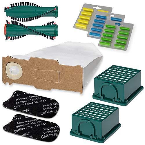 Staubsauger Sparset - 66 teiliges Set inkl. 30 Staubsaugerbeutel - Optimal passend für Vorwerk Kobold VK 130 und 131 - Bestleistung beim Saugen - Hochwertige Qualität