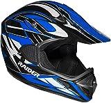 Raider RX1 Unisex-Adult MX Off-Road Helmet (Blue, Small)